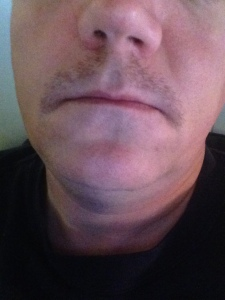 My Movember Mustache as of 11/8/13